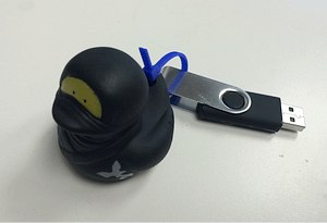 Figure 2: USB Rubber Ducky Device Guarded by Sacred Protector