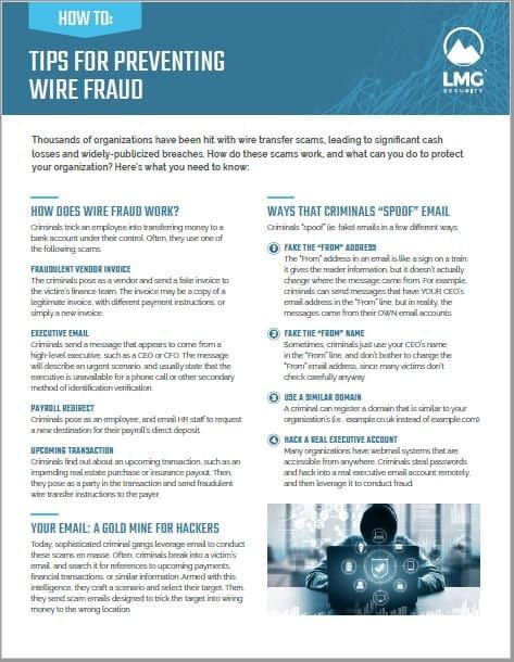 Wire Fraud Prevention Tips