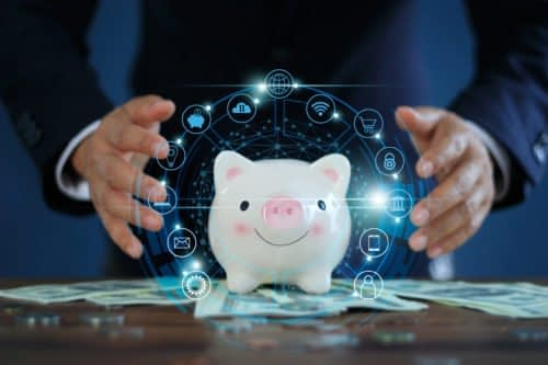 cybersecurity awareness month cyber piggy bank